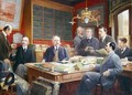 Claude Auge 1854-1924 in his Office with his Colleagues - Louis Paul de Laubadere