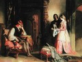 Maitre Pierre Countess of Croye and Quentin Durward in the Inn - Robert Scott Lauder