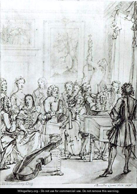Concert at Montague House - Marcellus, the Younger Laroon
