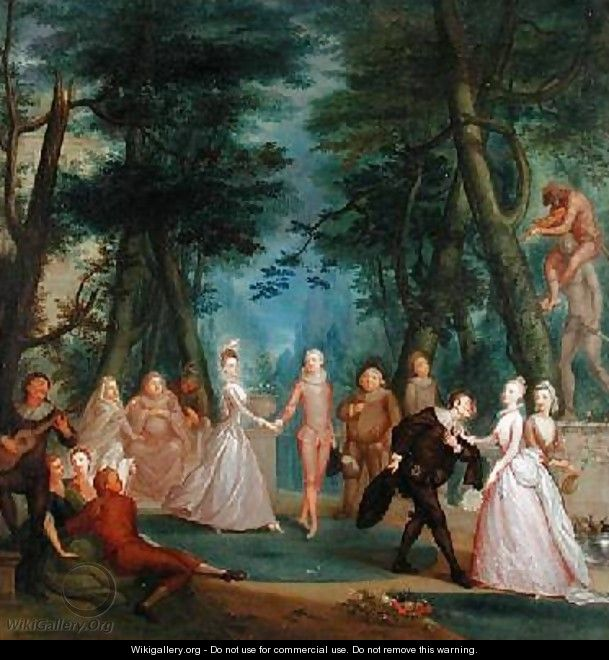 Scene in a Park - Marcellus, the Younger Laroon