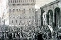 The Morning of the 3rd of June 1799 when the Florentine People Celebrated the Raising of the Grand Ducal Arms - (after) Lasinio, Carlo