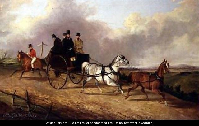 Gentlemen in a horse drawn buggy - George Henry Laporte