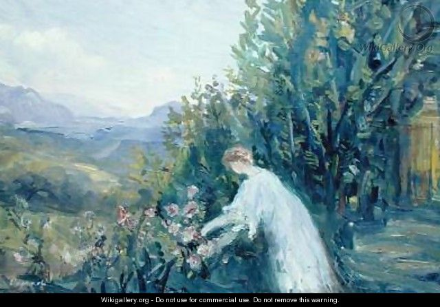 Woman in a Garden - Pierre Laprade