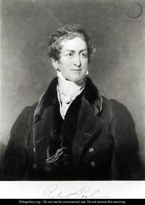 Portrait of Sir Robert Peel 1788-1850 2 - (after) Lawrence, Sir Thomas