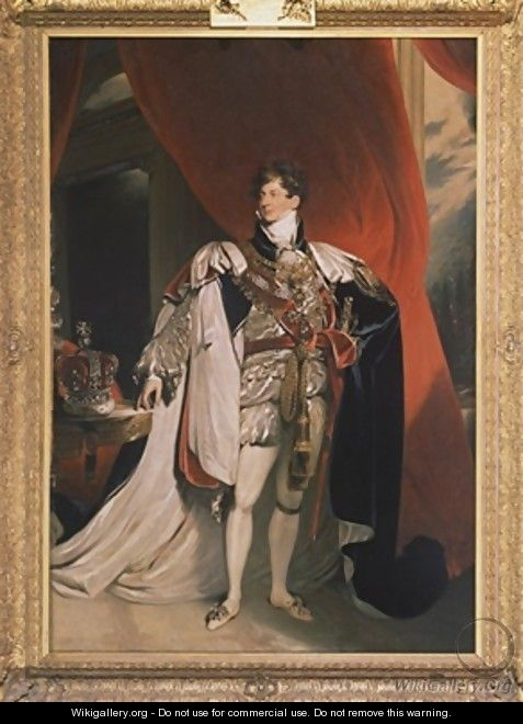 Portrait of King George IV - (after) Lawrence, Sir Thomas