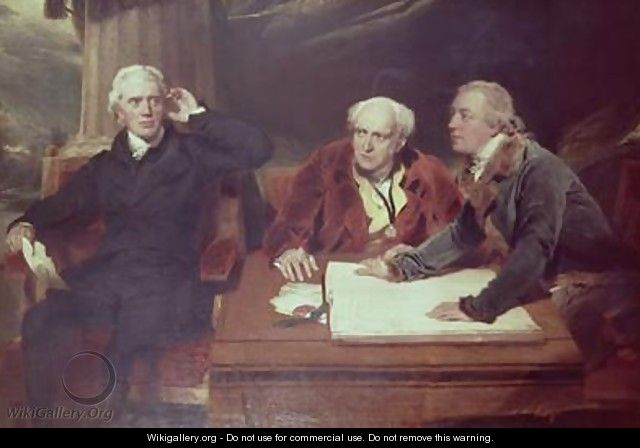 Sir Francis Baring Banker and Director of the East India Company with his Associates - Sir Thomas Lawrence