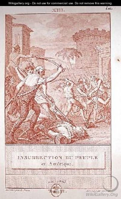 Insurrection of the American People in 1768 - Le Jeune