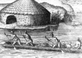 Florida Indians Storing their Crops in the Public Granary - (after) Le Moyne, Jacques (de Morgues)