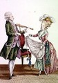 A gentleman playing the violin while a lady dances - (after) Le Clerc, Pierre Thomas