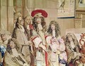 Louis XIV 1638-1715 visiting the Gobelins factory 2 - (after) Le Brun, Charles