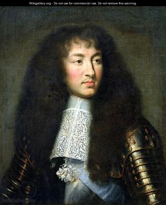 Portrait of Louis XIV 1638-1715 - (after) Le Brun, Charles
