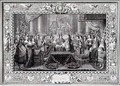 Marriage Ceremony of Louis XIV 1638-1715 King of France and Navarre and the Infanta Maria Theresa of Austria 1638-83 daughter of Philip IV King of Spain in 1660 - (after) Le Brun, Charles