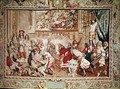 Louis XIV 1638-1715 visiting the Gobelins factory - (after) Le Brun, Charles