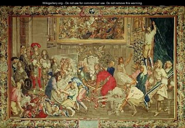 Louis XIV 1638-1715 visiting the Gobelins factory - Charles Le Brun