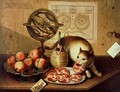 Still Life with Cat - Sebastiano Lazzari