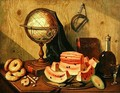 Still Life with Globe and Watermelon - Sebastiano Lazzari
