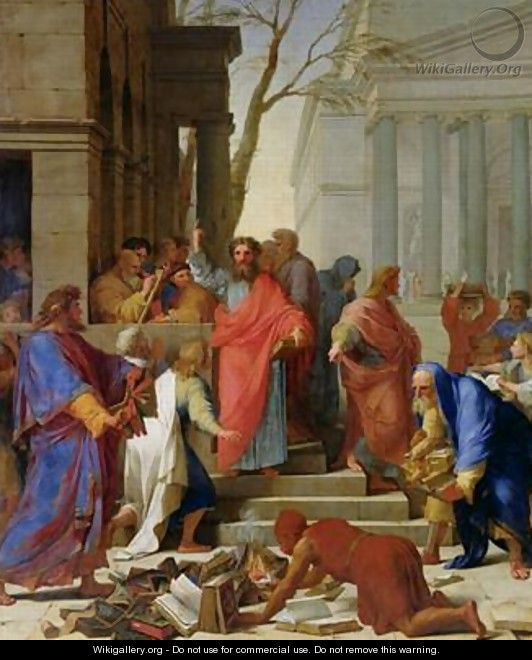 The Sermon of St Paul at Ephesus - Eustache Le Sueur
