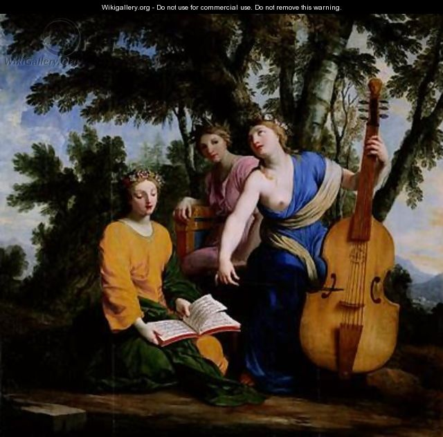 The Muses Melpomene Erato and Polymnia - Eustache Le Sueur