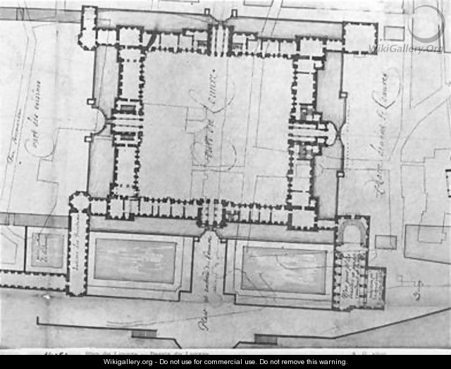 Design for the eastern buildings of the Louvre - Louis Le Vau