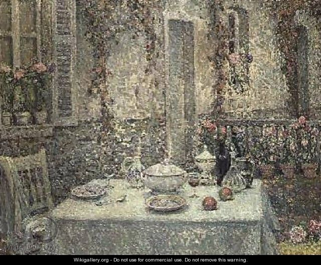 The White Tablecloth - Henri Eugene Augustin Le Sidaner