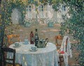 The Table in the Sun in the Garden - Henri Eugene Augustin Le Sidaner