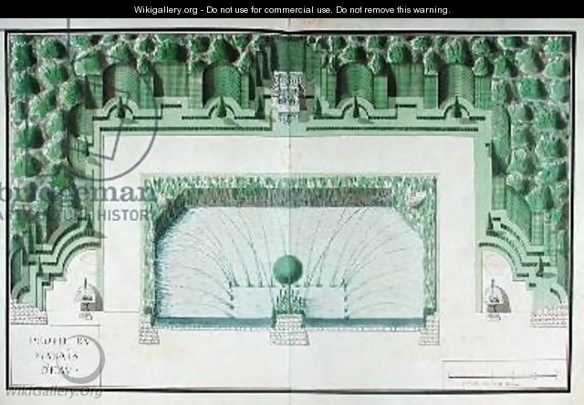 Design for a water garden at Versailles - Andre Le Notre