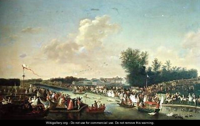 Deer Hunt in the Park at Chantilly for Paul I 1754-1801 and Maria Feodorovna 1759-1828 - Jean-Baptiste Le Paon