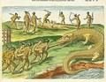 Hunting Crocodiles - (after) Le Moyne, Jacques (de Morgues)