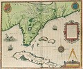 Map of Florida - (after) Le Moyne, Jacques (de Morgues)