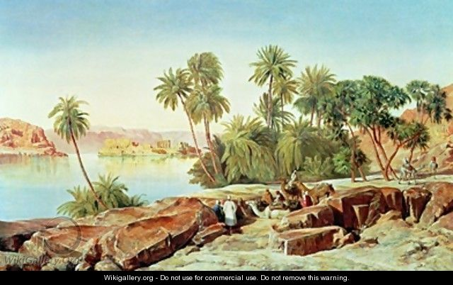 Philae on the Nile 2 - Edward Lear
