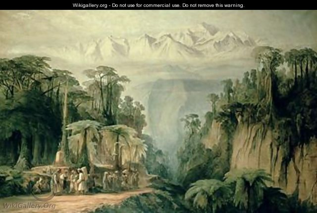 Mount Kanchenjunga from Darjeeling West Bengal - Edward Lear