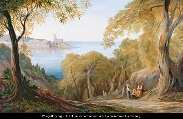 Landscape with View of Lerici - Edward Lear