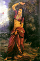 Lady at Ball Game - Raja Ravi Varma