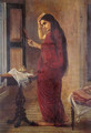 The Lady with a Mirror - Raja Ravi Varma