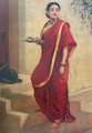 Lady Going for Pooja - Raja Ravi Varma
