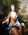 Portrait of a Lady with a Squirrel and a Spaniel - Frederic Kerseboom