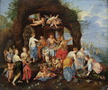 The Feast of the Gods - (attr. to) Kessel, Jan van