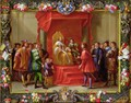 Peter IV King of Aragon being visited by Guillaume Raymond Moncada - (attr. to) Kessel, Jan van