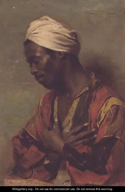 An Arab in Meditation - Carl Ludwig Ferdinand Kerstan