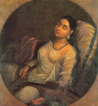 Lady Resting on the Pillow - Raja Ravi Varma