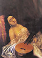 Sleeping Beauty - Raja Ravi Varma