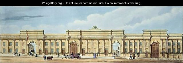 New Grand Entrance to the Liverpool and Manchester Railway Lime Street Liverpool - (after) Kelper, S.