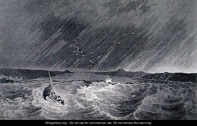 Boats Running for Shelter from a Storm into Refuge Cove - (after) Kendall, E.N.