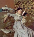 Caterina Reading a Book - James Kerr-Lawson