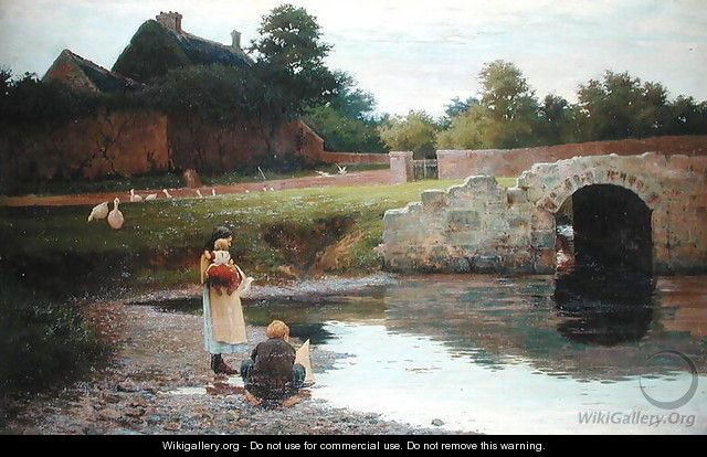 Playing by the Old Bridge - Joseph Malachy Kavanagh