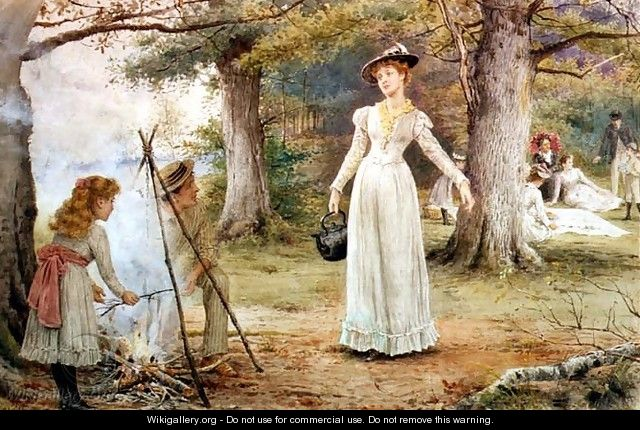 Stoking the Fire - George Goodwin Kilburne