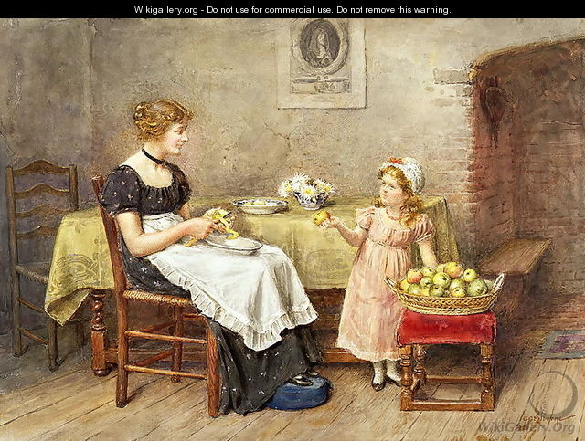 The Little Helpmate - George Goodwin Kilburne