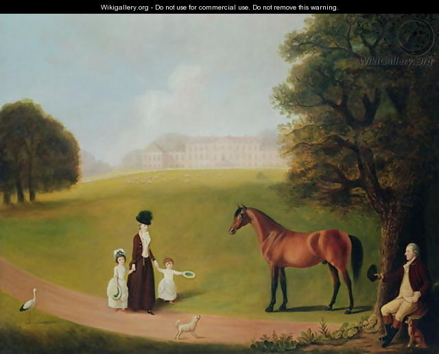 Earl and Countess of Ossory and their Children at Ampthill Park - Benjamin Killingbeck