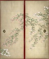 Moon with Hagi one of a pair of sliding doors 2 - Suzuki Kiitsu