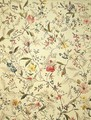 Wild flowers design for silk material - William Kilburn
